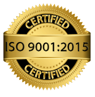 Certified ISO 9001:2015 Certified emblem